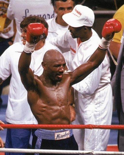 Photo of Boxer Marvelous Marvin Hagler